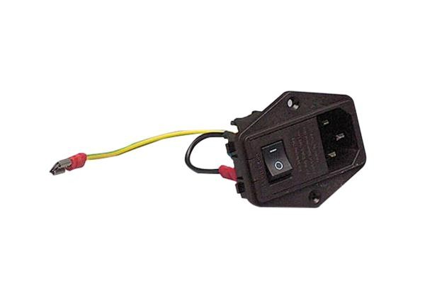 Steckdoseneinsatz mit Schalter und Sicherung